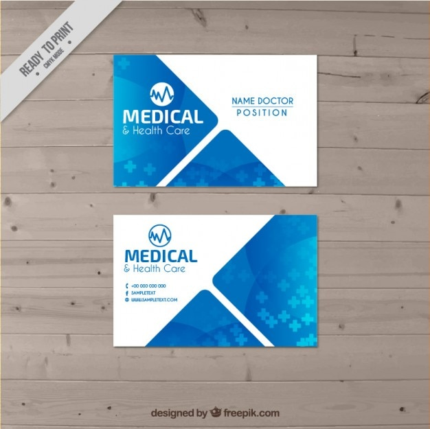 doctor business card free vector - Doctor Business Card