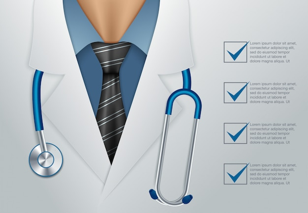 Doctor close up Premium Vector