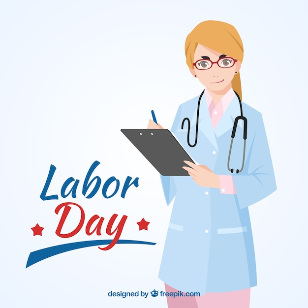 Doctor labor day background