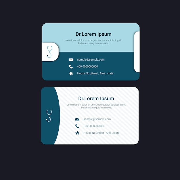 doctors business card template premium vector - Doctor Business Card