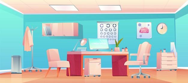 Врач терапевт офис с вещи и оборудование Бесплатные векторы