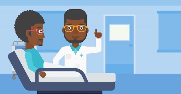 Doctor visiting patient. Premium Vector