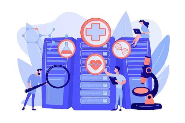 Doctors and personalized prescriptive analytics Free Vector