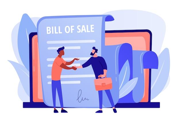 Документ о покупке. сделка клиента и покупателя. договор купли-продажи Бесплатные векторы