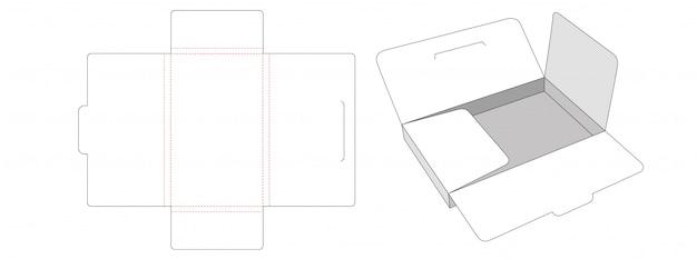 Document storage box die cut template Premium Vector