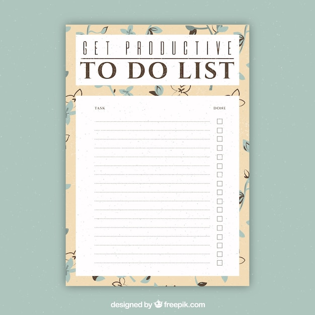 Document template to write things to do Vector – Things to Do Templates