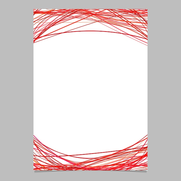 Document template with arched stripes in red tones - blank vector brochure illustration on white ...