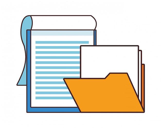 Documents paper sheet cartoon Premium Vector