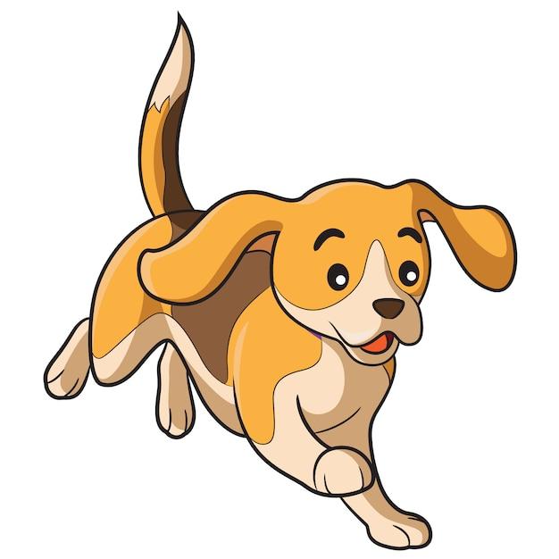 Dog cartoon Premium Vector