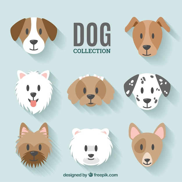 dog collection design vector free download. Black Bedroom Furniture Sets. Home Design Ideas