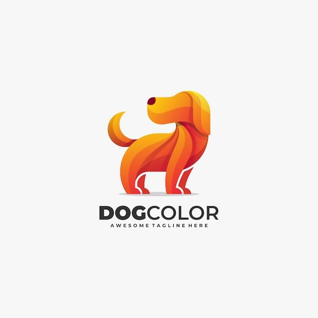 Собака симпатичные абстрактные цвет логотип вектор шаблон Premium векторы