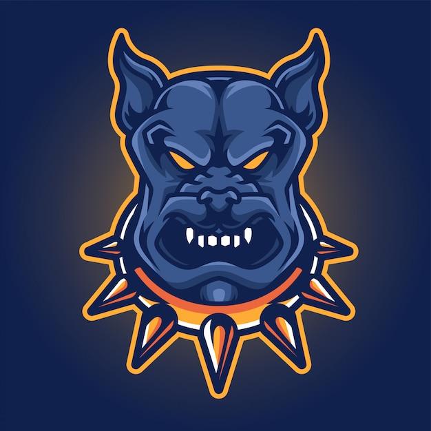 Dog esport gaming logo Premium векторы