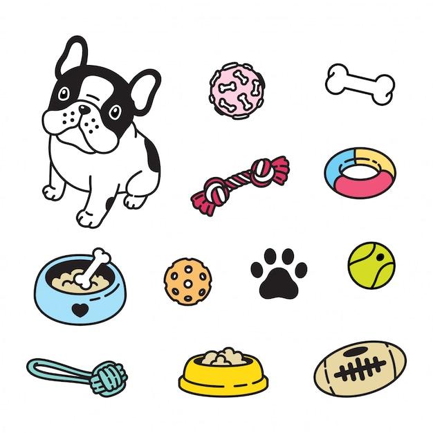 Dog french bulldog toy cartoon Premium Vector