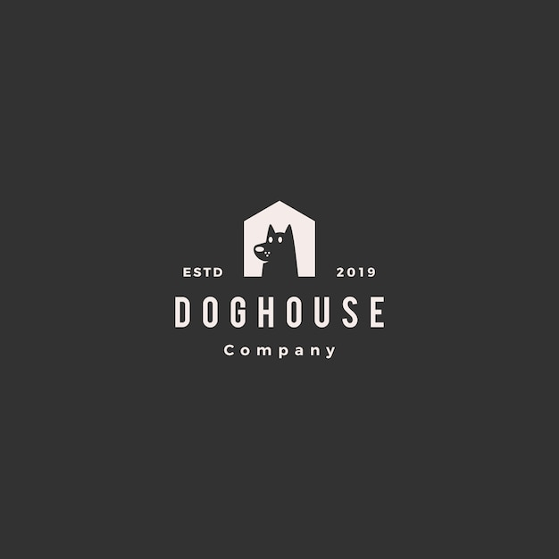 Dog house pet home logo Premium векторы