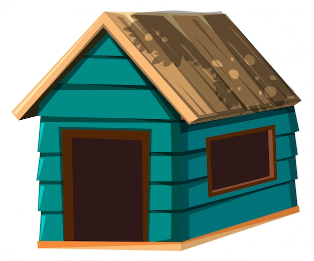 A dog house on white background Vector | Free Download