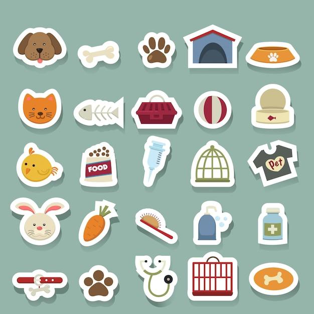 Dog icons set Premium Vector