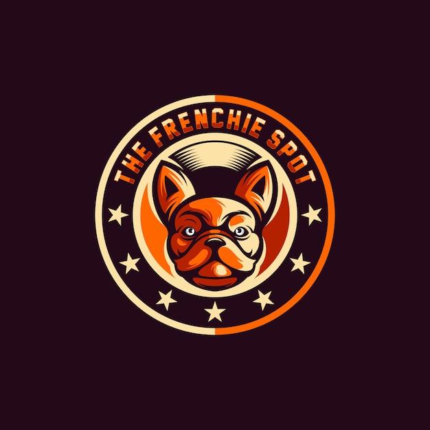 Dog logo design vector Premium Vector