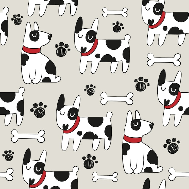 Dog pattern background vector free download dog pattern background free vector voltagebd Gallery