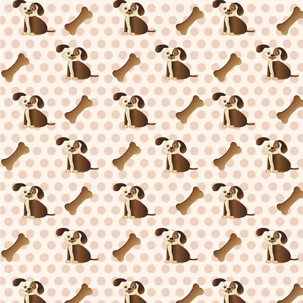 犬と犬の犬のパターンと犬の背景 Premiumベクター