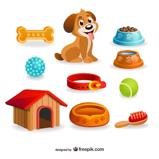Dog pet design elements Premium Vector