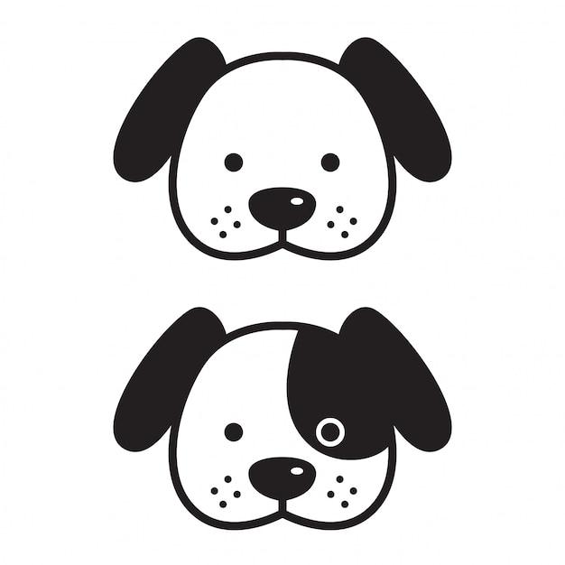 Dog vector french bulldog face head cartoon Premium Vector
