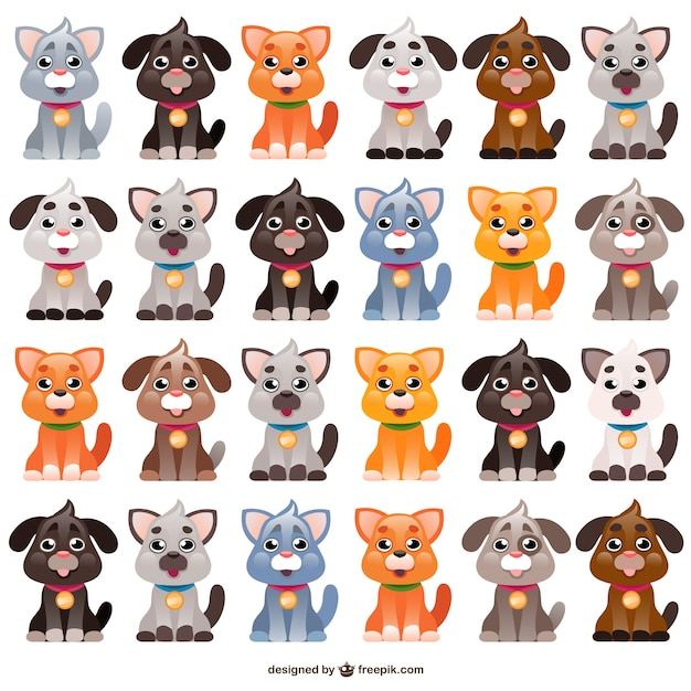dogs cartoons vector free download