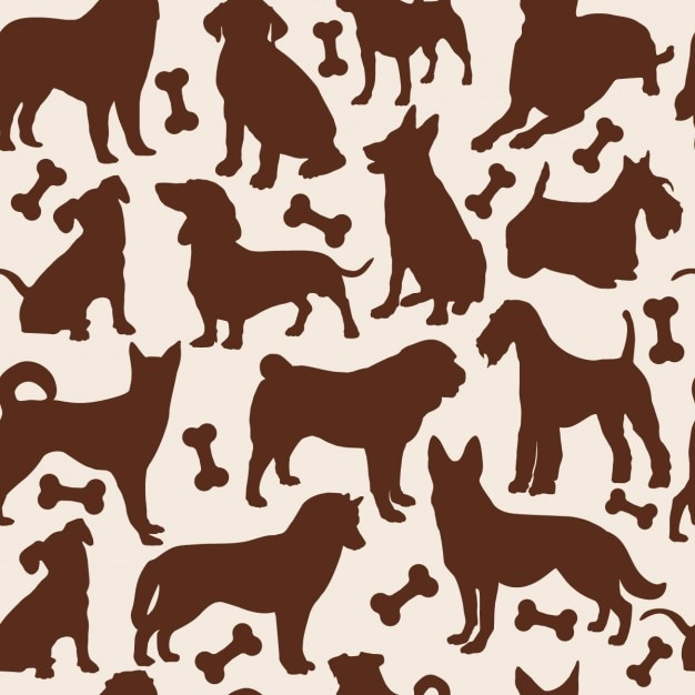 Dogs seamless pattern Free Vector