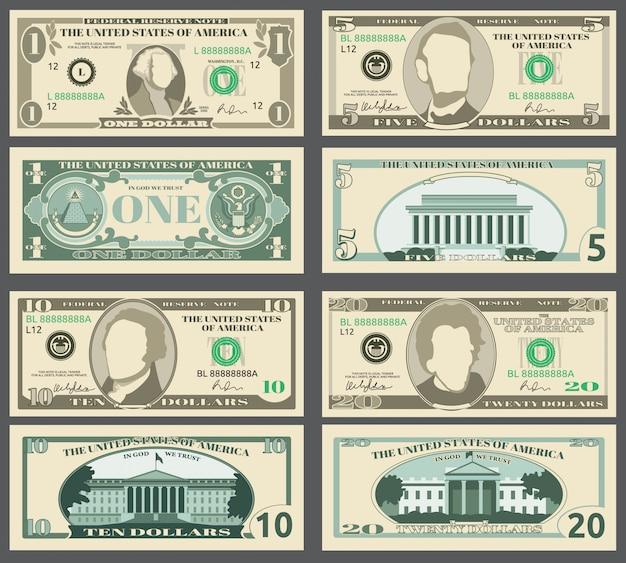Dollar bank notes Premium Vector