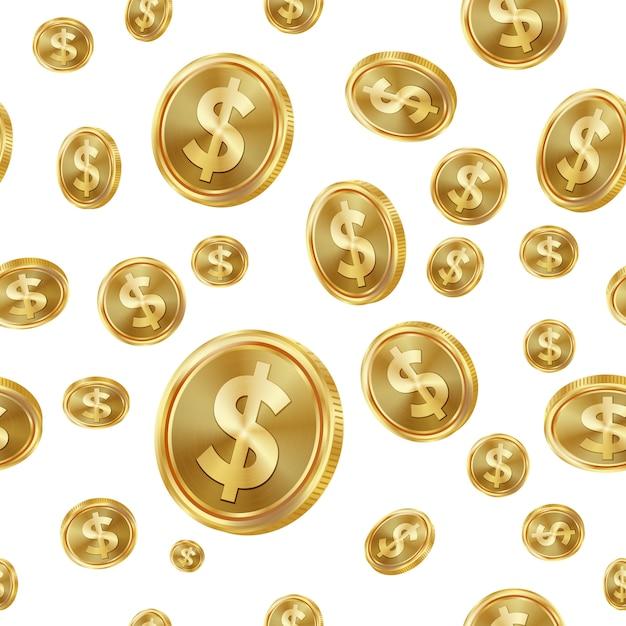 Dollar seamless pattern. Premium Vector