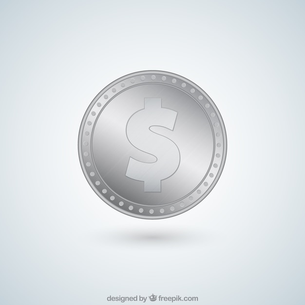 Dollar Silver Coin Vector Free Download