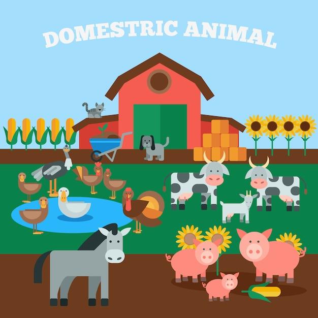 Domestic animals concept Free Vector