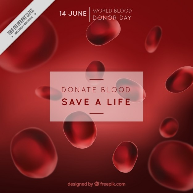 Donate blood background Free Vector