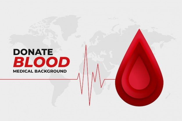 Donate blood healthcare and medical promo design Free Vector