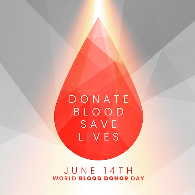 Donate blood save lives concept blood drop Free Vector