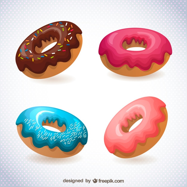 Donuts drawing free Free Vector