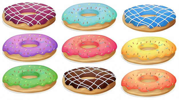 Donuts Free Vector