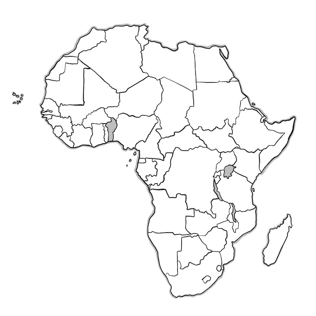 Great Doodle Africa Map Free Vector