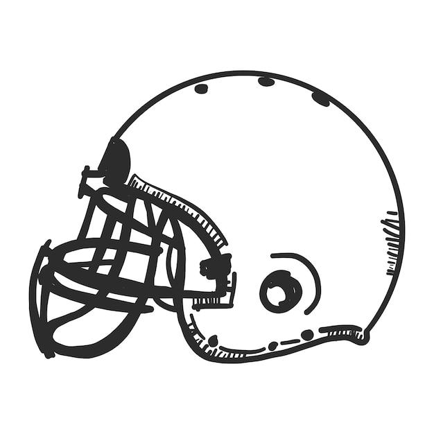 doodle american football helmet vector | free download