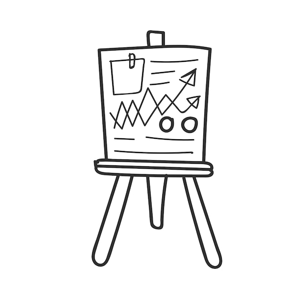 Doodle of business data analysis board Free Vector