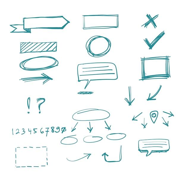 Doodle elements Free Vector