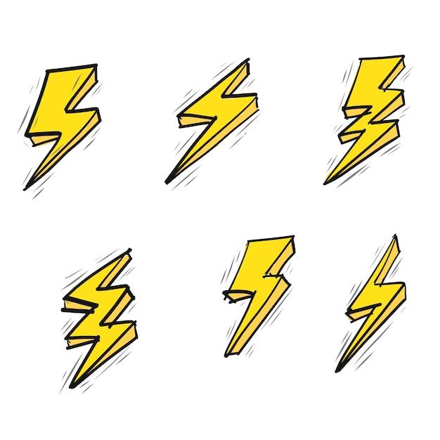 Doodle flash vector Free Vector