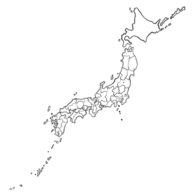 Doodle Japan Map Vector Free Download - Japan map sketch