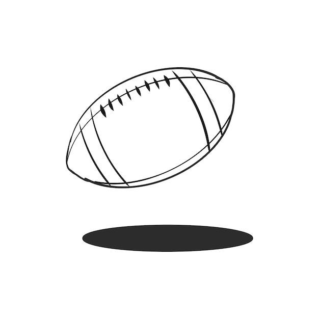 doodle rugby ball vector | free download