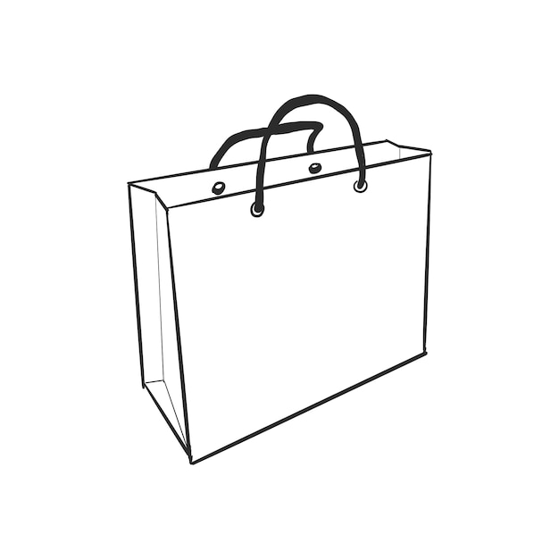 Doodle Shopping Bag Vector Free Download