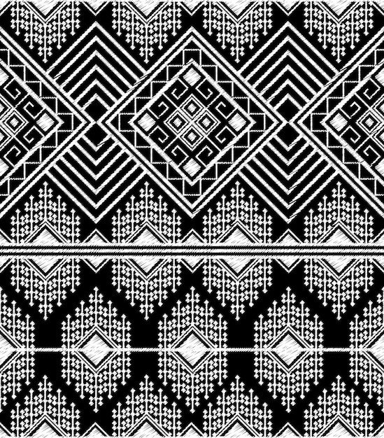 Doodle tribal aztec seamless pattern Premium Vector