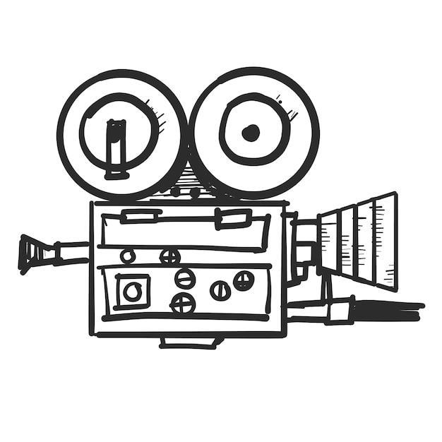Doodle video camera Vector | Free Download