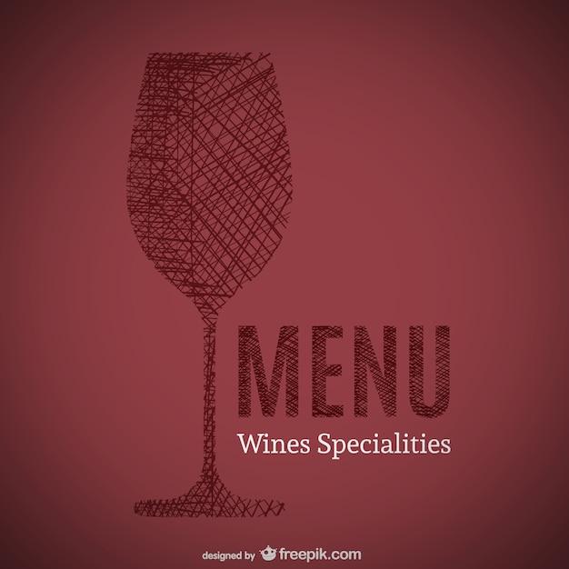 Doodle di vini specialità menù arte Vettore gratuito