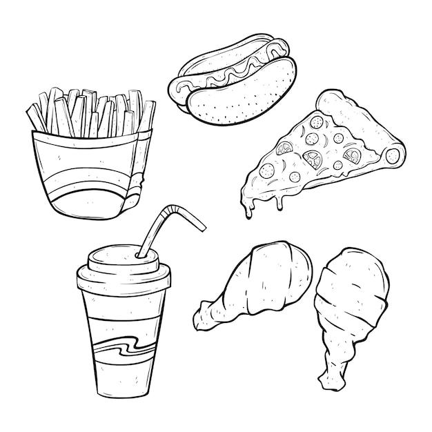 вредная пища рисунки девка