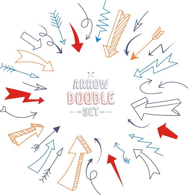 Набор штрихов подчеркивания в стиле doodle различных форм Premium векторы