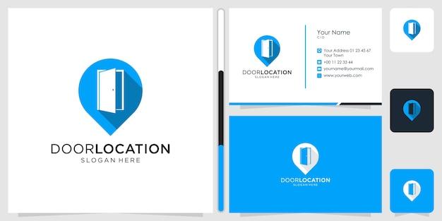 ドアと場所のロゴデザインシンボルアイコンテンプレートビジネスカードプレミアム Premiumベクター